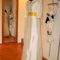 Brautkleid gelber Guertel