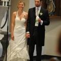 Hochzeitskleid Seide Blumentraeger