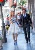 Brautkleid blaue Schleife