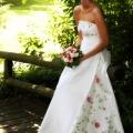 Brautkleid Blumendeko