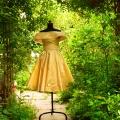 Massanfertigung Kleid gelb