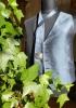 Edle Anzugweste mit Krawatte, aus Seide