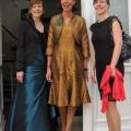 Braun-goldenes Kleid mit Bolero